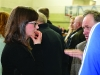 Anxious moments Kathryn Reilly Sinn Fein at the Cavan-Monaghan Count Centre on Saturday last.  Pic.  Pat Byrne.