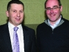 Mike Durkan and Shane O'Hanlon at the Cavan-Monaghan Count Centre on Saturday last.  Pic.  Pat Byrne.