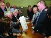 Checking the spoilt votes at the Cavan-Monaghan Count Centre on Saturday last.  Pic.  Pat Byrne.