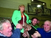 Heather Humphreys celebrates her re-election at the Cavan-Monaghan Count Centre.  Pic.  Pat Byrne.