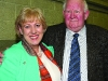 Former Fine Gael TD Seymour Crawford congratulating Heather Humphreys on her re-election at the Cavan-Monaghan Count Centre on Saturday evening last.  Pic.  Pat Byrne.