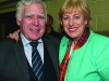 Aidan Murray congratulates Heather Humphreys on her re-election at the Cavan-Monaghan Count Centre.  Pic.  Pat Byrne.