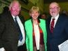 Former Fine Gael TD Seymour Crawford with re-elected TD's for Cavan-Monaghan Heather Humphreys and Caoimhghín Ó Caoláin at the Cavan-Monaghan Count Centre on Saturday evening last.  Pic.  Pat Byrne.