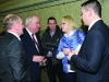 Mike Durkan and his wife with Joe O'Reilly at the Cavan-Monaghan Count Centre on Sunday last.  Pic.  Pat Byrne.