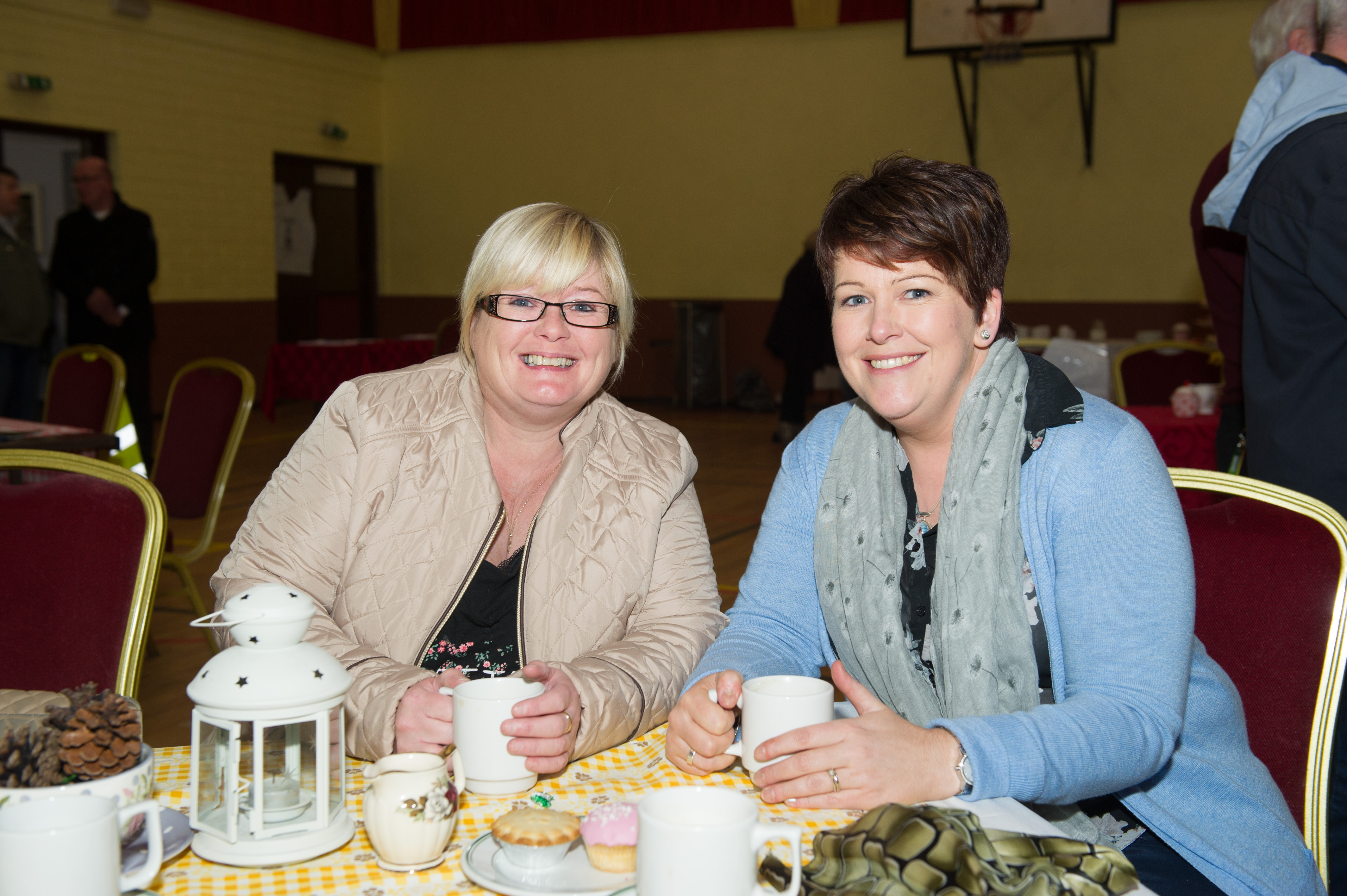 Denise Fields and Paula McAree at the Emyvale Tidy Town's 50th anniversary celebrations at the Emyvale Leisure Centre. ©Rory Geary/The Northern Standard