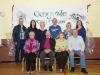 Members of the Emyvale Tidy Town's at their 50th anniversary celebrations in the Emyvale Leisure Centre. In photo are front (L-R) Angela McCaffrey, Seamus McAree, Nancy McCluskey and Eddie McGorman. Behind (L-R) John Finn, chairman, Patrica Ryan, secretary, Karen Fields, Enda Fields, treasurer, Norah Ryan and Mary Flynn. ©Rory Geary/The Northern Standard