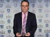 Donal McAdam with his award for Juvenile Club of the Year. © Northern Standard