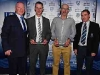 Pictured are Cathal Smyth, Martin O'Brien with his Youth Achievement Award for Football, John Slevin with his Youth Achievement Award for Hurling and John McArdle. © Northern Standard