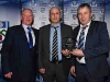 Pictured is Cathal Smyth (Sponsor) with Ciaran Leonard who received the Club of the Year Award from Padraig Sherry. © Northern Standard