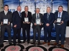 HALL OF FAME: Pictured is Ian Brady who received the Award on behalf of his father, Brendan Brady, Cathal Smyth (Sponsor), Kevin Treanor, Paddy Kerry, Michael Owen McMahon (Co. Chairman) and Gerry McCarville. © Northern Standard
