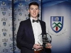 Stephen O'Hanlon with his award for Intermediate Footballer of the Year. © Northern Standard