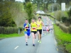 The race leaders, Shane Brady, Conor Duffy and Cillian O'Leary, leading the race out of Glaslough village. ©Rory Geary/The Northern Standard