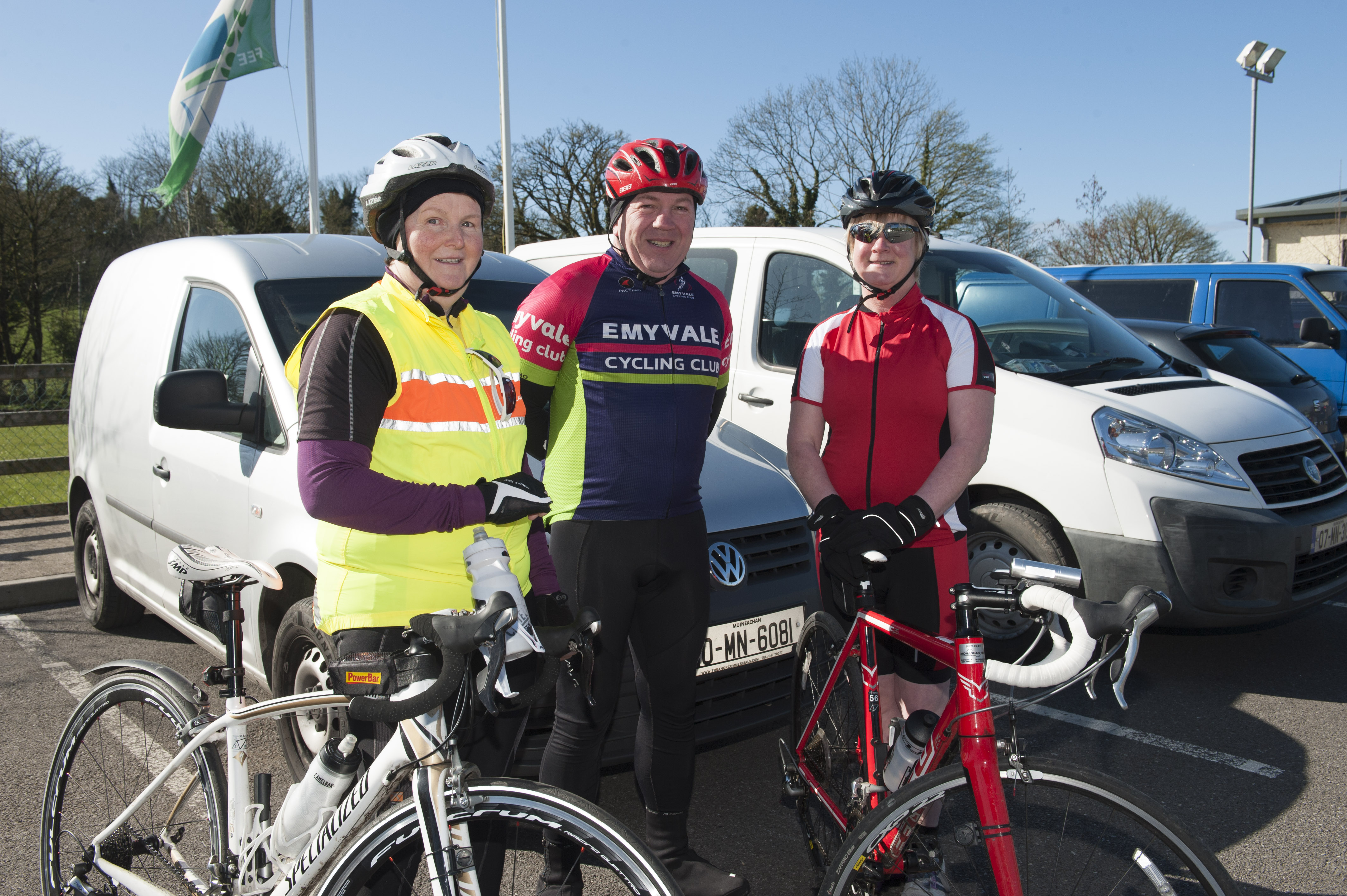 At the cycle for Scoil Mhuire, Gransha were (L-R) Carmel Murray, Ciaran Murray and Noeleen Goodman. ©Rory Geary/The Northern Standard
