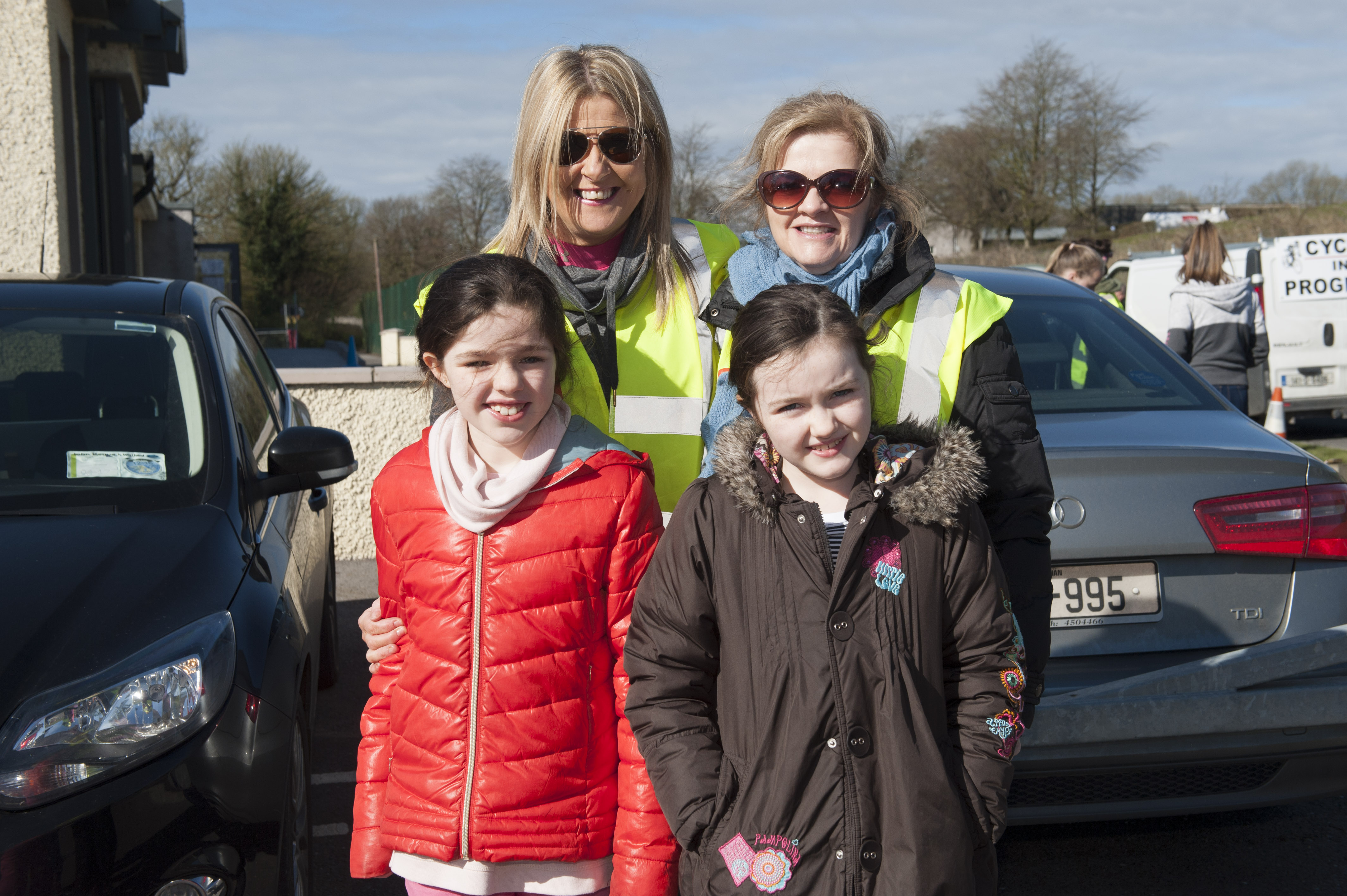 At the cycle for Scoil Mhuire, Gransha were Christine O'Keefe, Karen McKenna, Diane O'Keefe and Kayla O'Keefe. ©Rory Geary/The Northern Standard