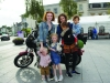 Cait McCarey and Charlotte Batsaikha in Monaghan for the festival, with some of their families. ©Rory Geary/The Northern Standard