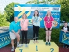 The winners of the 11-12 Girls Back Crawl, with Norman Griffin. ©Rory Geary/The Northern Standard