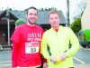Darren Feely and Frank McKenna at the Glaslough Harriers Jolly Joggers Run on New Years Day. ©Rory Geary/The Northern Standard