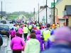 Some of the crowd taking part in the Glaslough Harriers Jolly Joggers Run on New Years Day, making their way along the Emyvale Main Street. ©Rory Geary/The Northern Standard