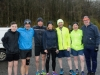 At the 5k in Rossmore Park which was organised by the McKenna family were (L-R) Eoin McCleary, Duke Mahony, Dermot McDermott, Annamarie McCleary, Chrisopher Connolly, Gareth McKenna and Paul Bond. ©Rory Geary/The Northern Standard
