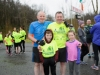 At Rossmore Park for the 5k that was held in aid of the Kevin Bell Repatriation Fund were John Kelly, Ryan Kelly, Niall Kelly and Tara Kelly. ©Rory Geary/The Northern Standard