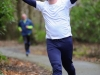 Paul Bond in happy mood as he approached the finishline of the 5k. ©Rory Geary/The Northern Standard