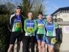 Pictured at the Kieran McAree Duathlon last Sunday were (L-R) John Watters, Kieran McGarvey, Ann Morgan and Riona Dunwoody. ©Rory Geary/The Northern Standard