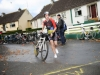 John Wheelan who was 2nd in the Kieran McAree Duathlon, as he set off on the cycle. ©Rory Geary/The Northern Standard