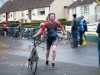 Winner of the Kieran McAree Duathlon, Cillian Heery, Muckno Triathlon Club, making his transition to the cycle. ©Rory Geary/The Northern Standard