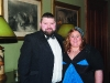 Thomas Cobine and Emma Gollogly from Carrickmacross Lions Club at the Monaghan Lions Club Charter Night in Castle Leslie. ©Rory Geary/The Northern Standard
