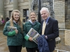 Dr Rory O'Hanlon at the Monaghan 1916 commemoration event with Alison McDonald and Simone Clerkin. ©Rory Geary/The Northern Standard