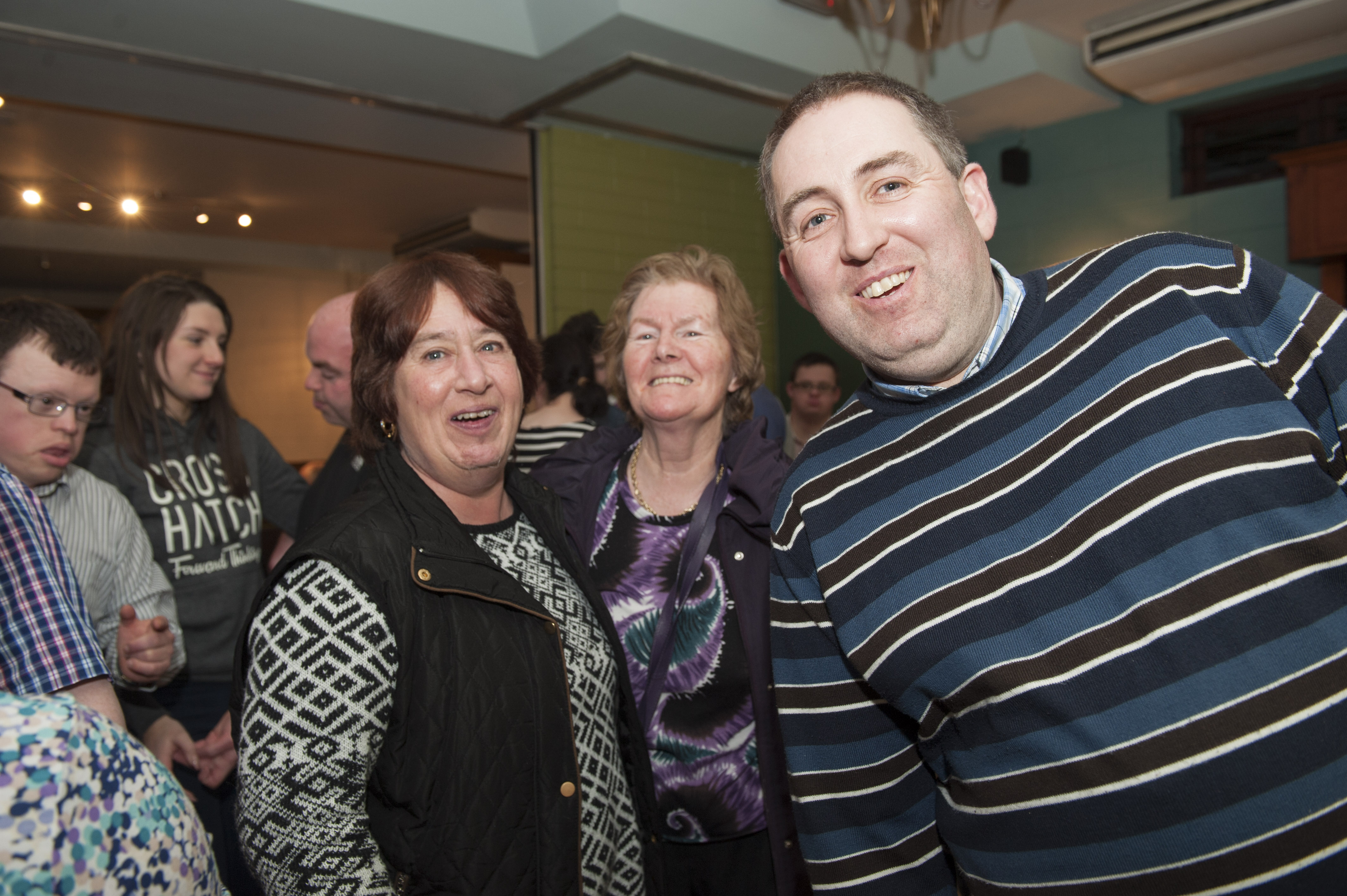 At the Monaghan Arch Club Party were (L-R) Rosemary Dehoot, Maureen Murray and Ian Hollinger. ©Rory Geary/The Northern Standard