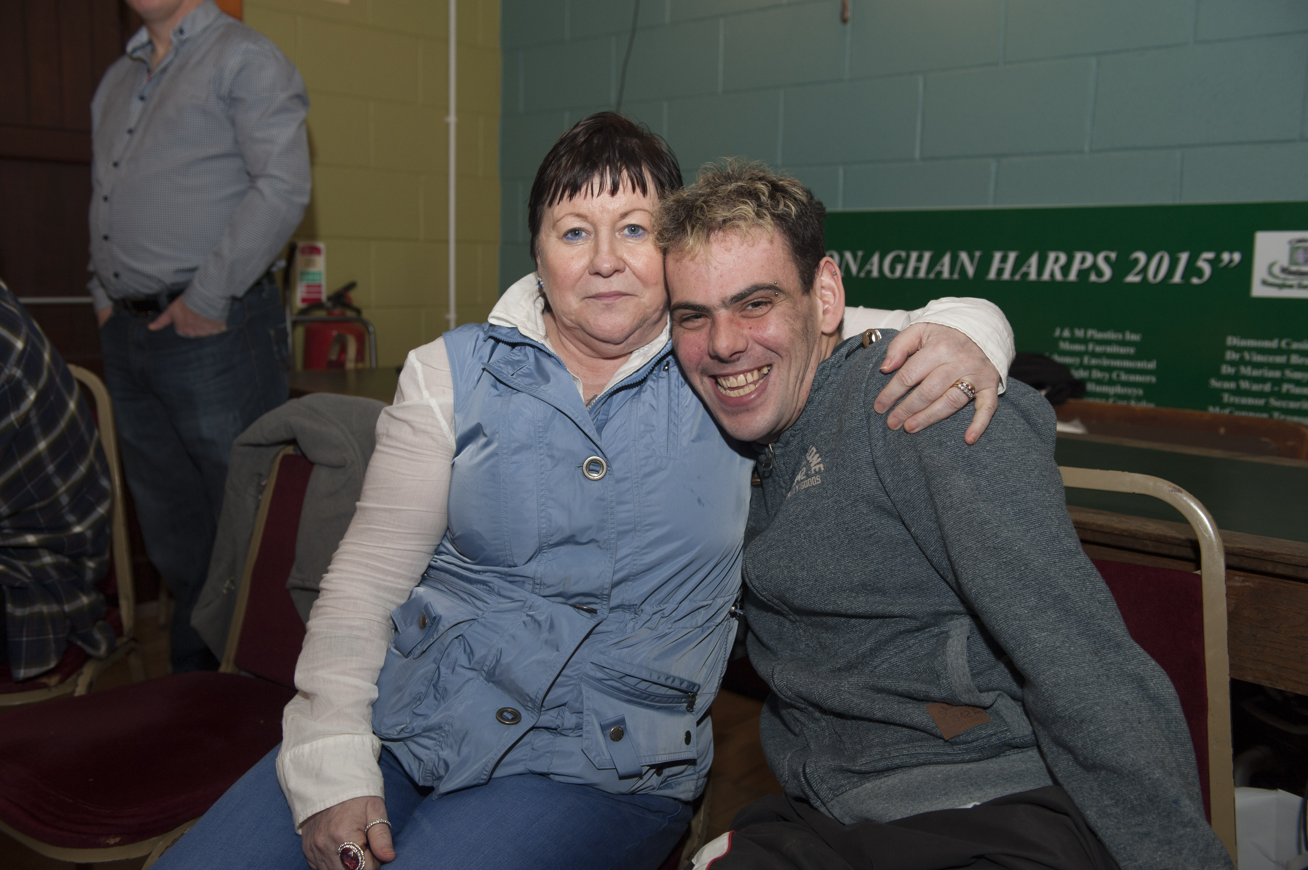Eileen Brannigan with Padraig Crudden at the Monaghan Arch Club Party in the Monaghan Harps GFC. ©Rory Geary/The Northern Standard