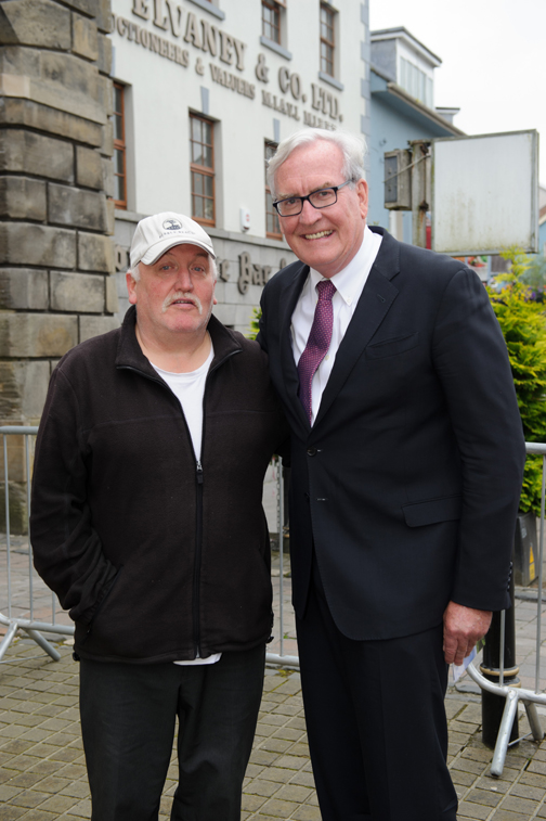 At the Monaghan Canada day celebrations was Peter Clerkin with Canadian Ambassador to Ireland Kevin Vickers. ©Rory Geary/The Northern Standard