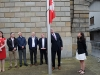 Canada's Ambassador to Ireland, Mr Kevin Vickers, raising the Canadian National Flag during the Monaghan Canada Day celebrations. ©Rory Geary/The Northern Standard
