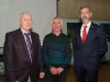 Enda Galligan, centre, with Theo McMahon and Sean Conlon, chairman of the Monaghan Canada Day committee, at the talk on the life of Edward MacNamara Morphy, that he gave in St Patrick's Hall, Monaghan. ©Rory Geary/The Northern Standard
