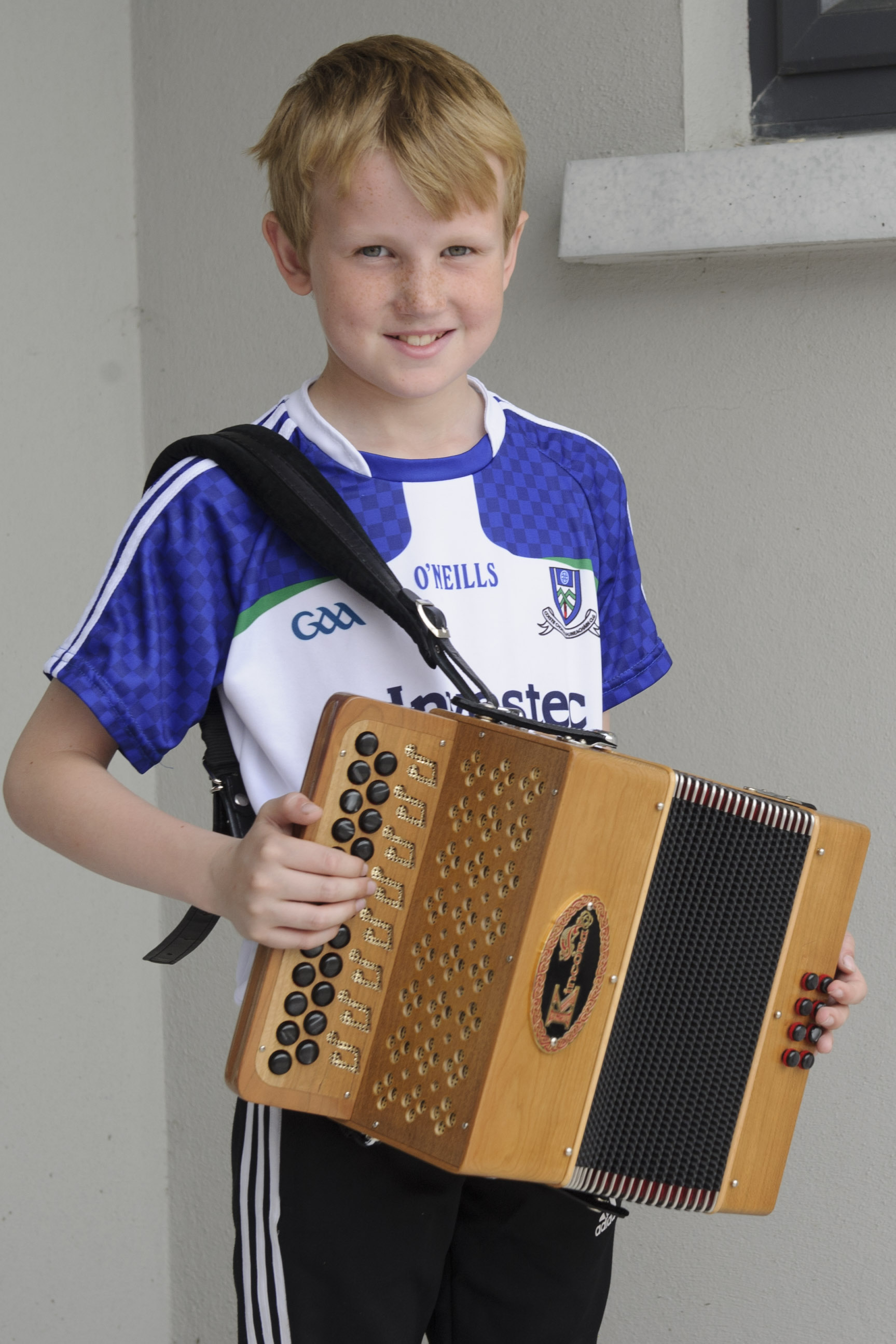 Fionán Ó Gallghóir, Baile Mhuineacháin CCE, who was the winner of the U-12 Button Accordian. ©Rory Geary/The Northern Standard