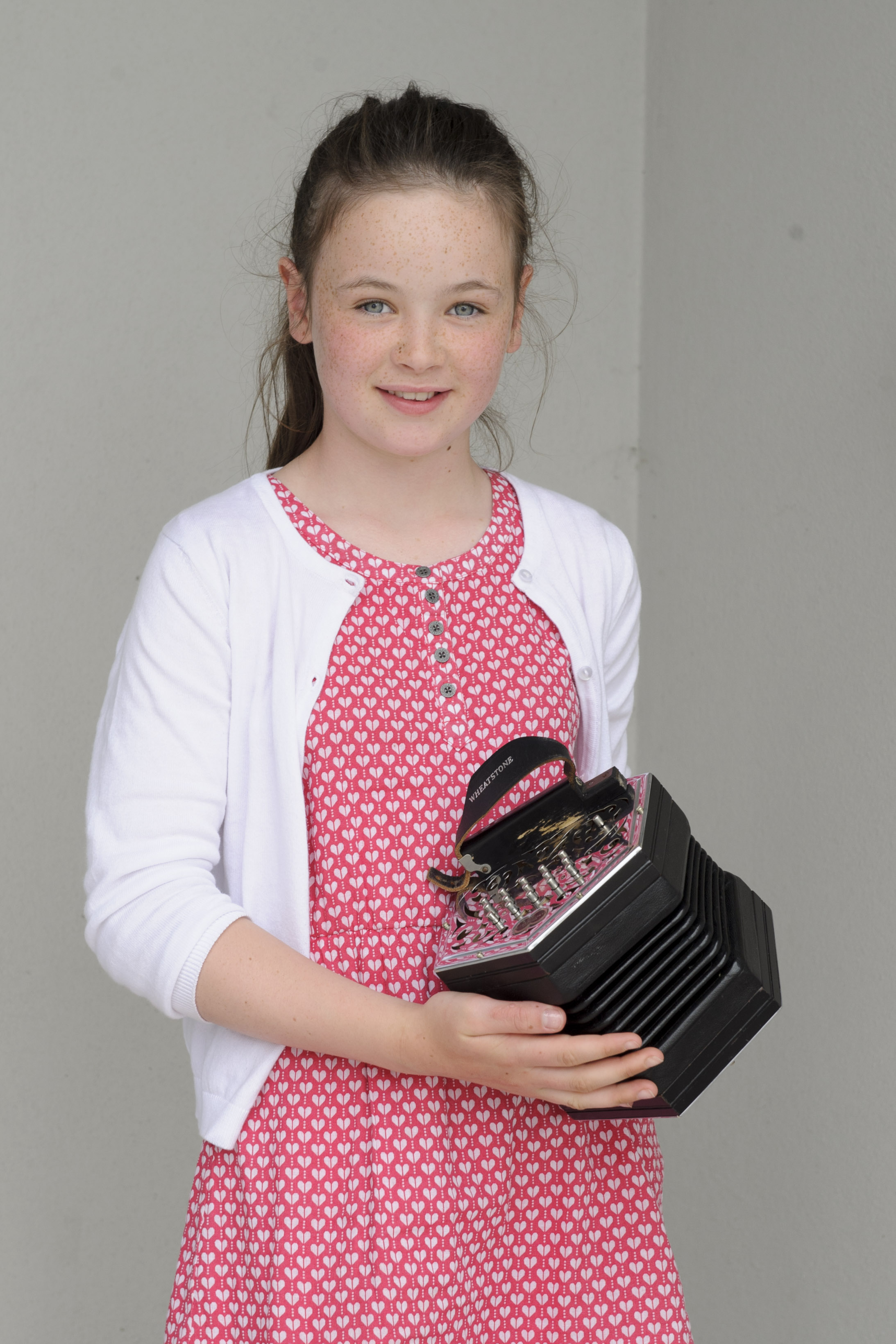 Róisin Lennon, Aughnamullen CCE, who was the winner of the U-12 Concertina. ©Rory Geary/The Northern Standard