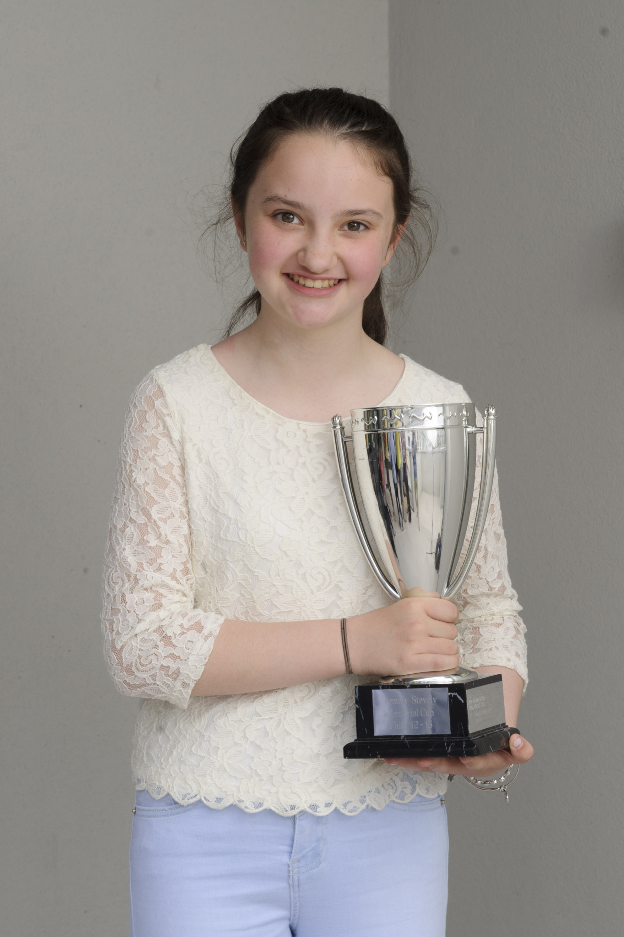 Orla Corrigan, Baile Mhuineacháin CCE, who was the winner of the U-15 Fiddle Slow Air. ©Rory Geary/The Northern Standard
