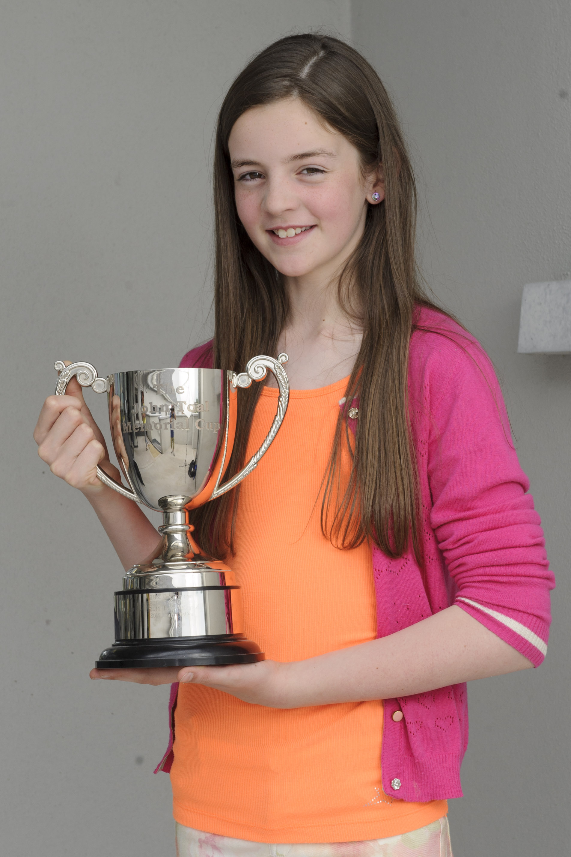 Evelyn McCaul, Aughnamullen CCE, who won the U-12 Fiddle Competition. ©Rory Geary/The Northern Standard