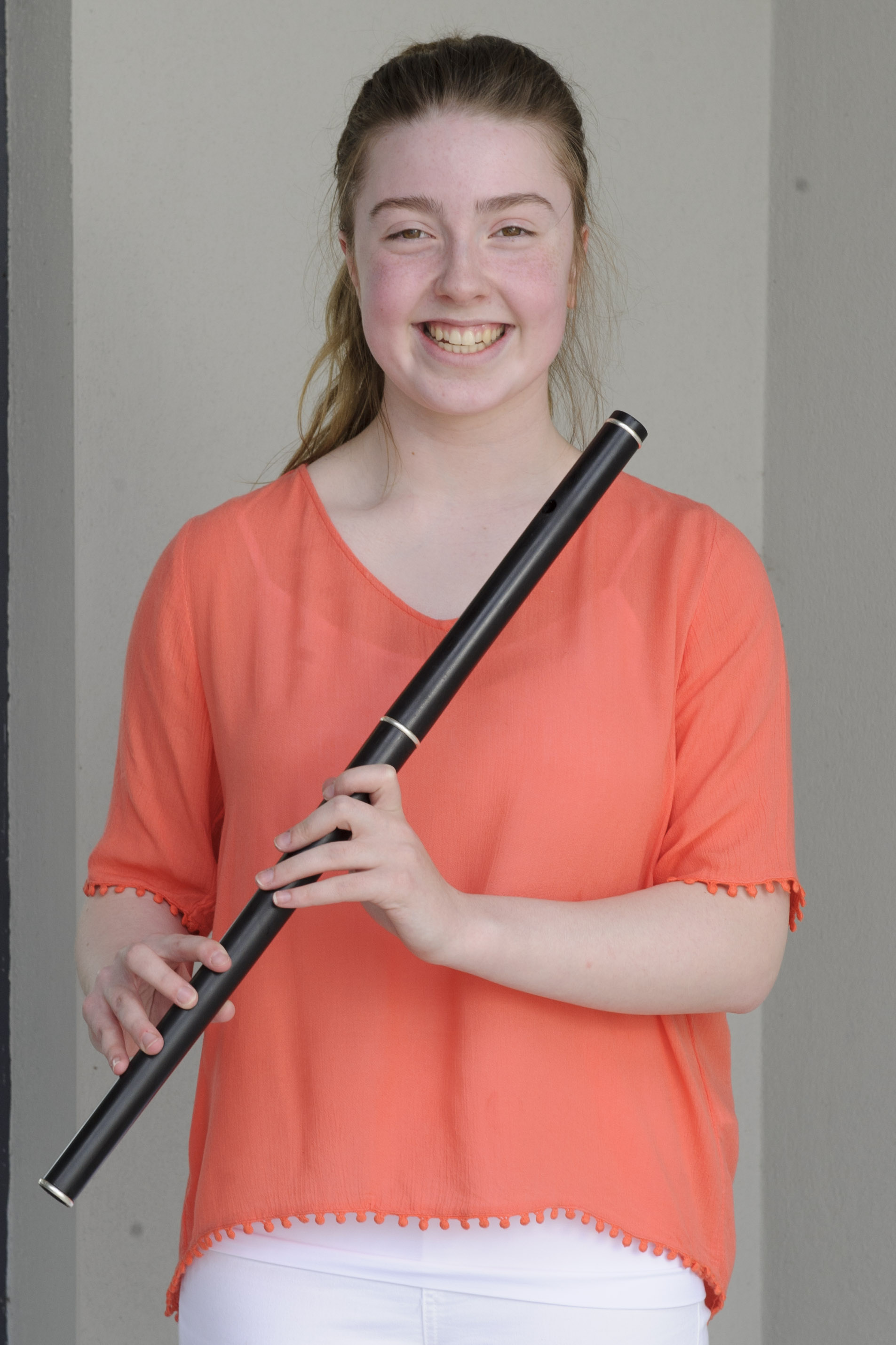 Caoimhe McMahon, Corcaghan CCE, who was winner of the U-18 Flute Slow Air and 2nd in the Flute Dance Tune. ©Rory Geary/The Northern Standard