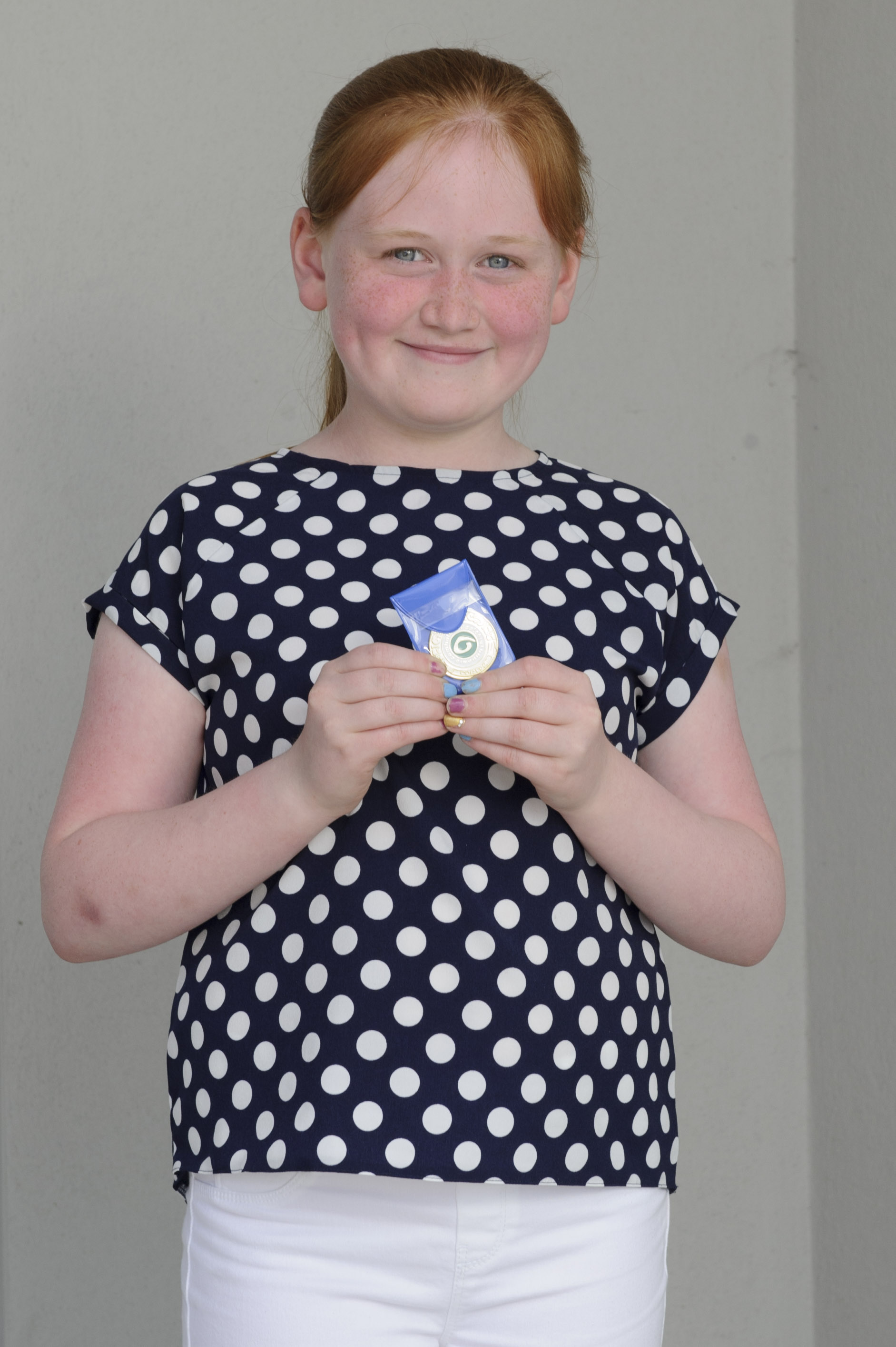 Laura McMahon, Tullycorbet CCE, who was winner of the U-12 Piano and Piano Accordion and 2nd in the Tin Whistle. ©Rory Geary/The Northern Standard