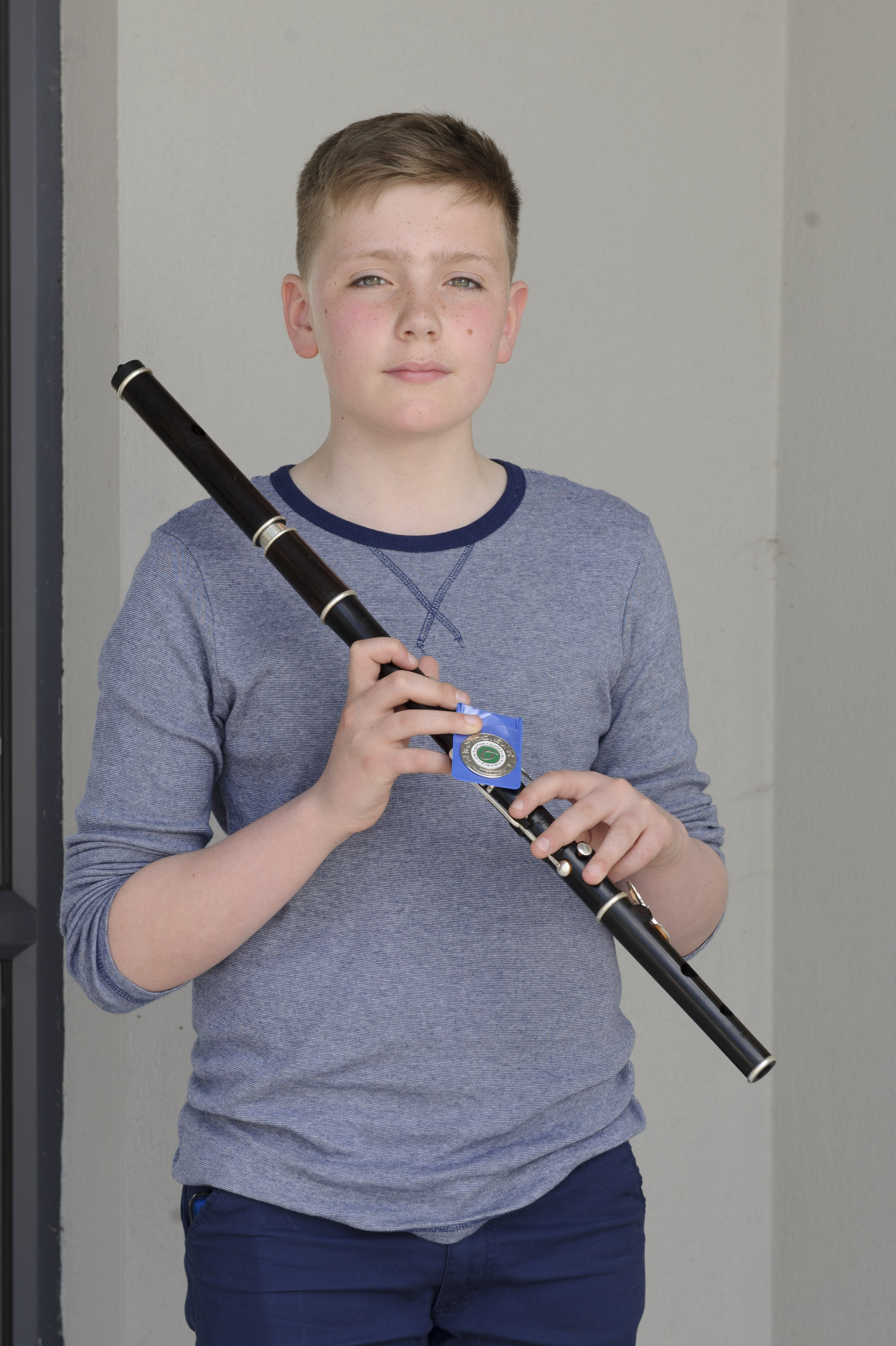 Mark Tomany, Tullycorbet CCE, who was winner of the U-15 Slow Air, 2nd in the Flute, 2nd in the Whistle and 2nd in Whistle Slow Air. ©Rory Geary/The Northern Standard