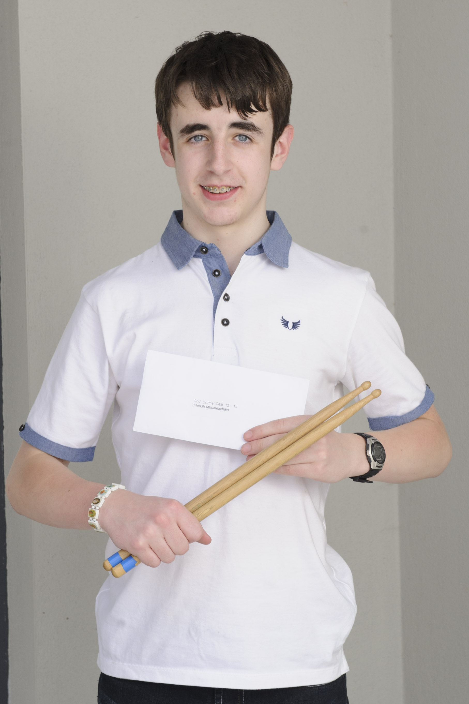 Conor Lappin, Éamonn Ó Muiri CCE, who was the runner-up in the U-18 Céiléi Band Drums. ©Rory Geary/The Northern Standard