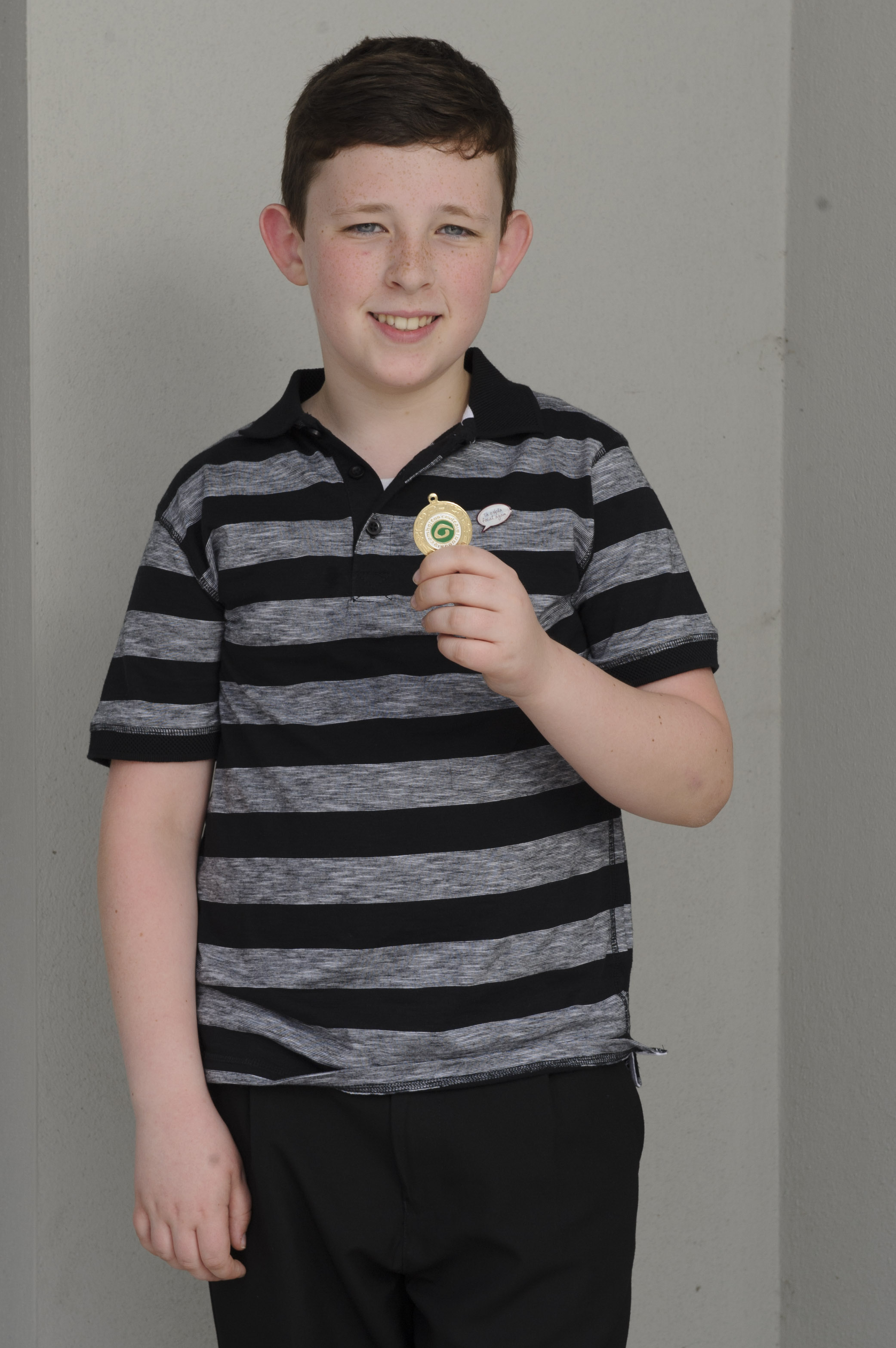 Jamie Lawlor, Baile Mhuineacháin CCE, who was the winner of the U-15 English Singing. ©Rory Geary/The Northern Standard