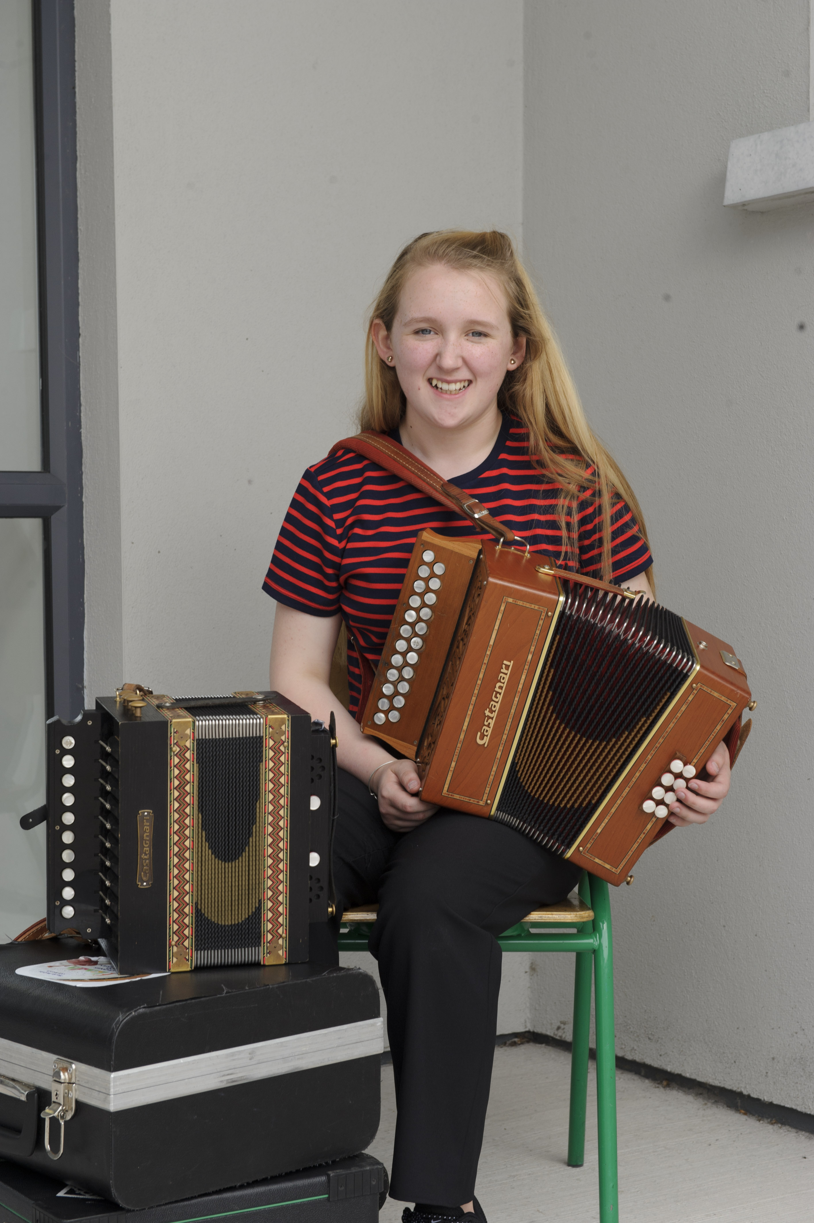 Katie Boyle, Coraghan CCE, who was the winner of the U-15 Accordion, Melodeon and English Singing competitions. ©Rory Geary/The Northern Standard