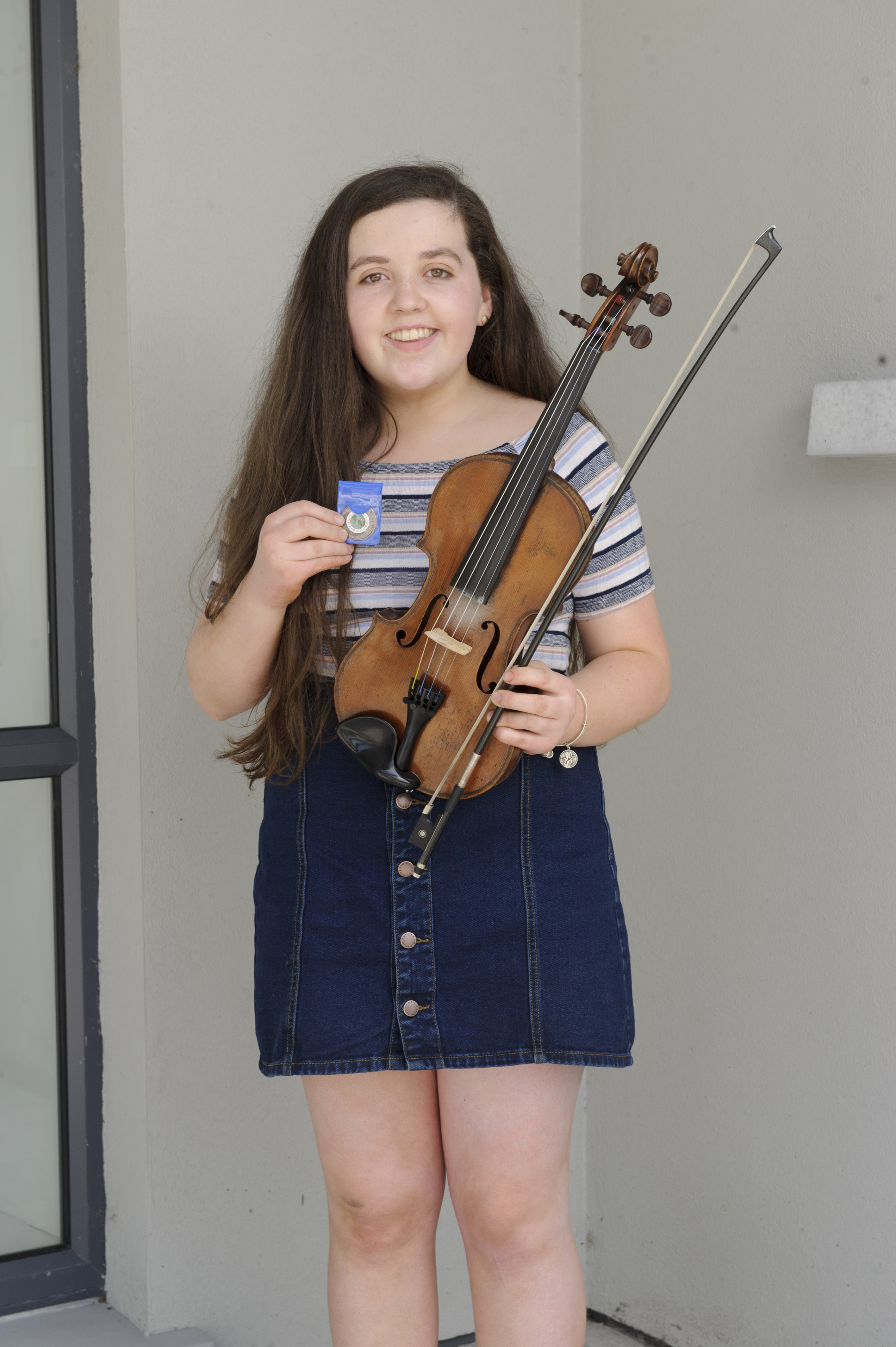 Rossa Gilsenin, Baile Mhuineacháin CCE, who was 3rd in the U-15 Fiddle competition. ©Rory Geary/The Northern Standard