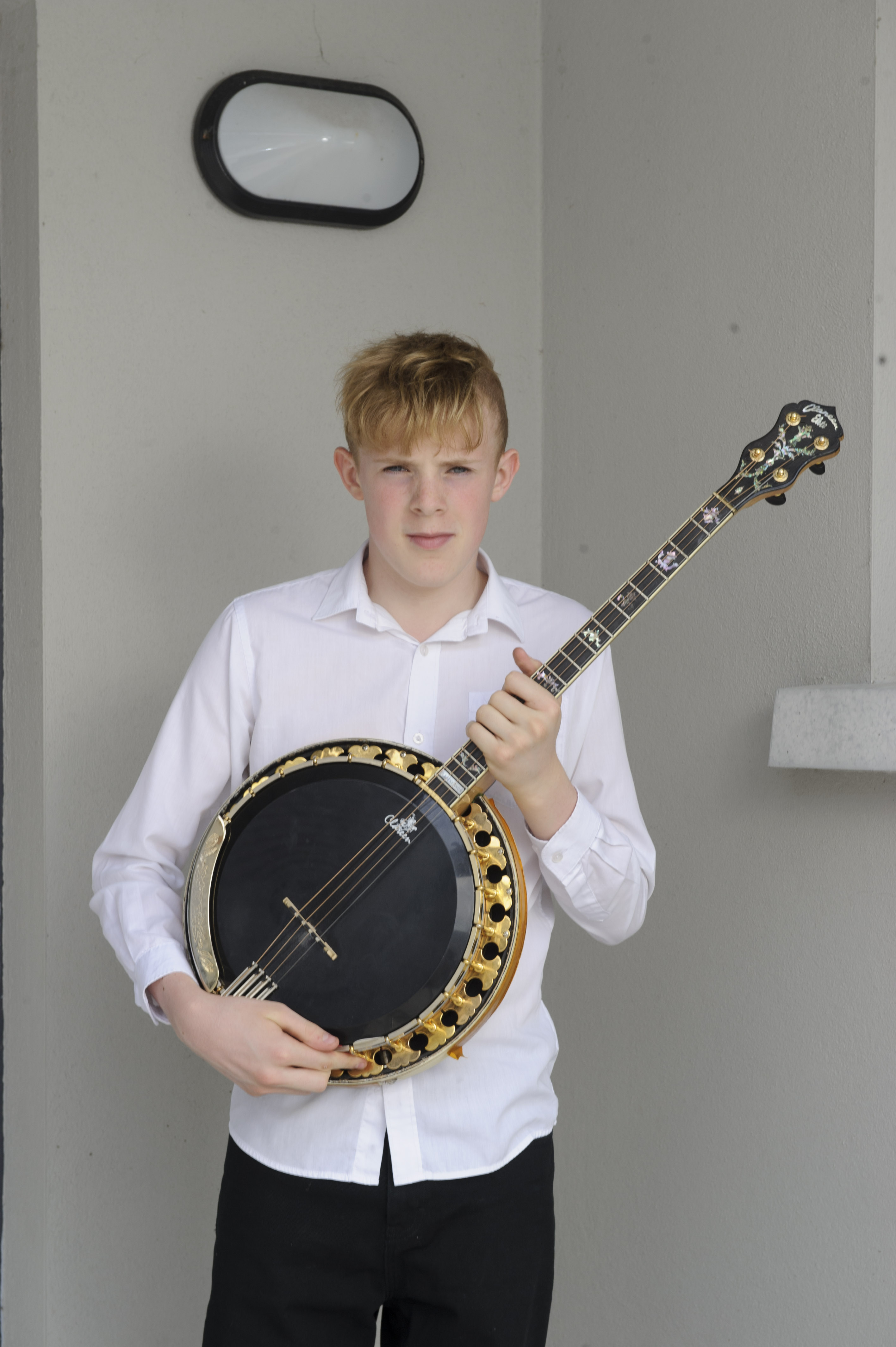 Lee Treanor, Tullycorbet CCE, who was the runner-up in the U-154 Banjo competition. ©Rory Geary/The Northern Standard
