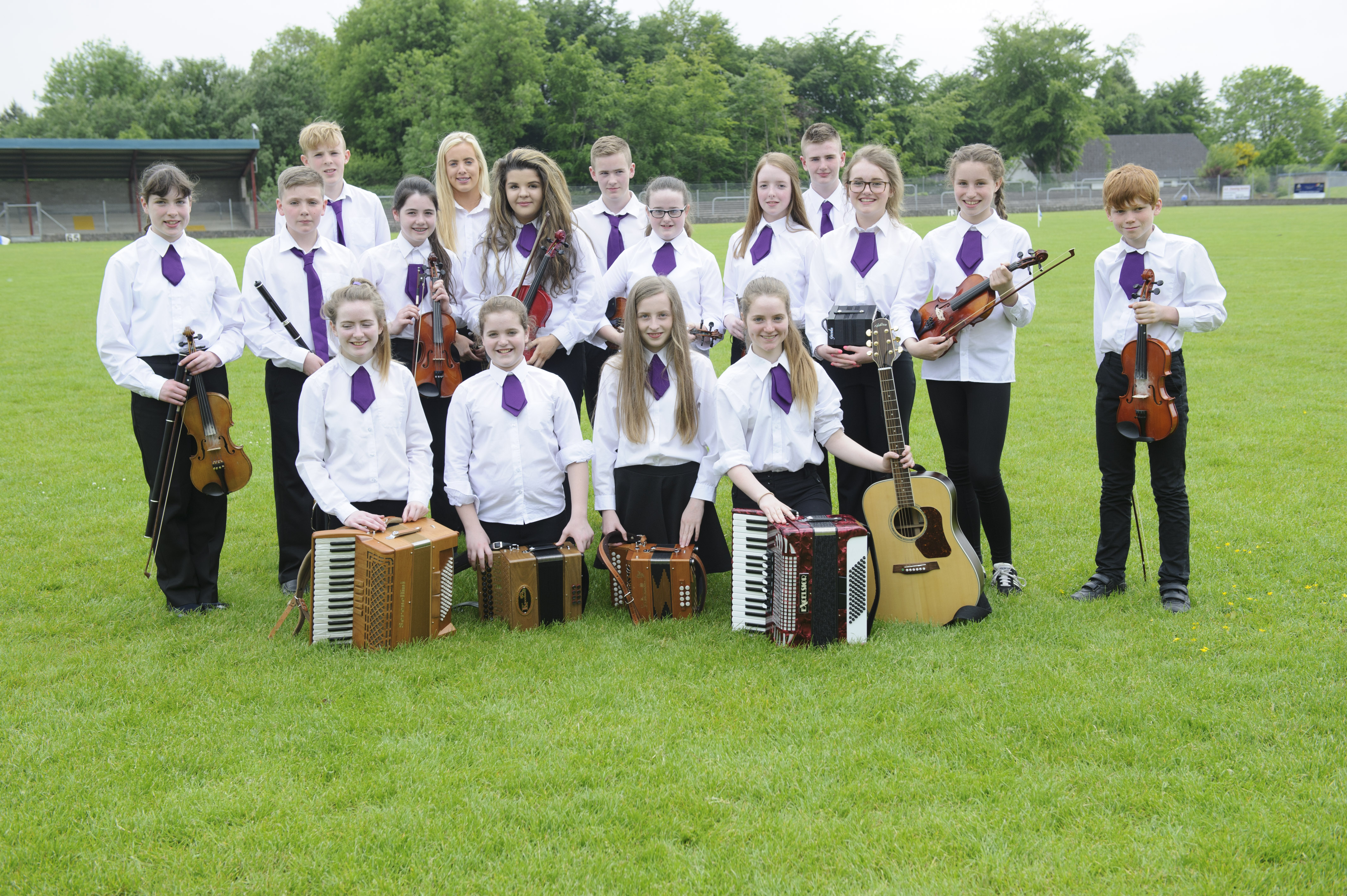 The Tullycorbet CCE U-15 Grúpa Ceoil, at the Co Monaghan Fleadh in Scotstown. ©Rory Geary/The Northern Standard
