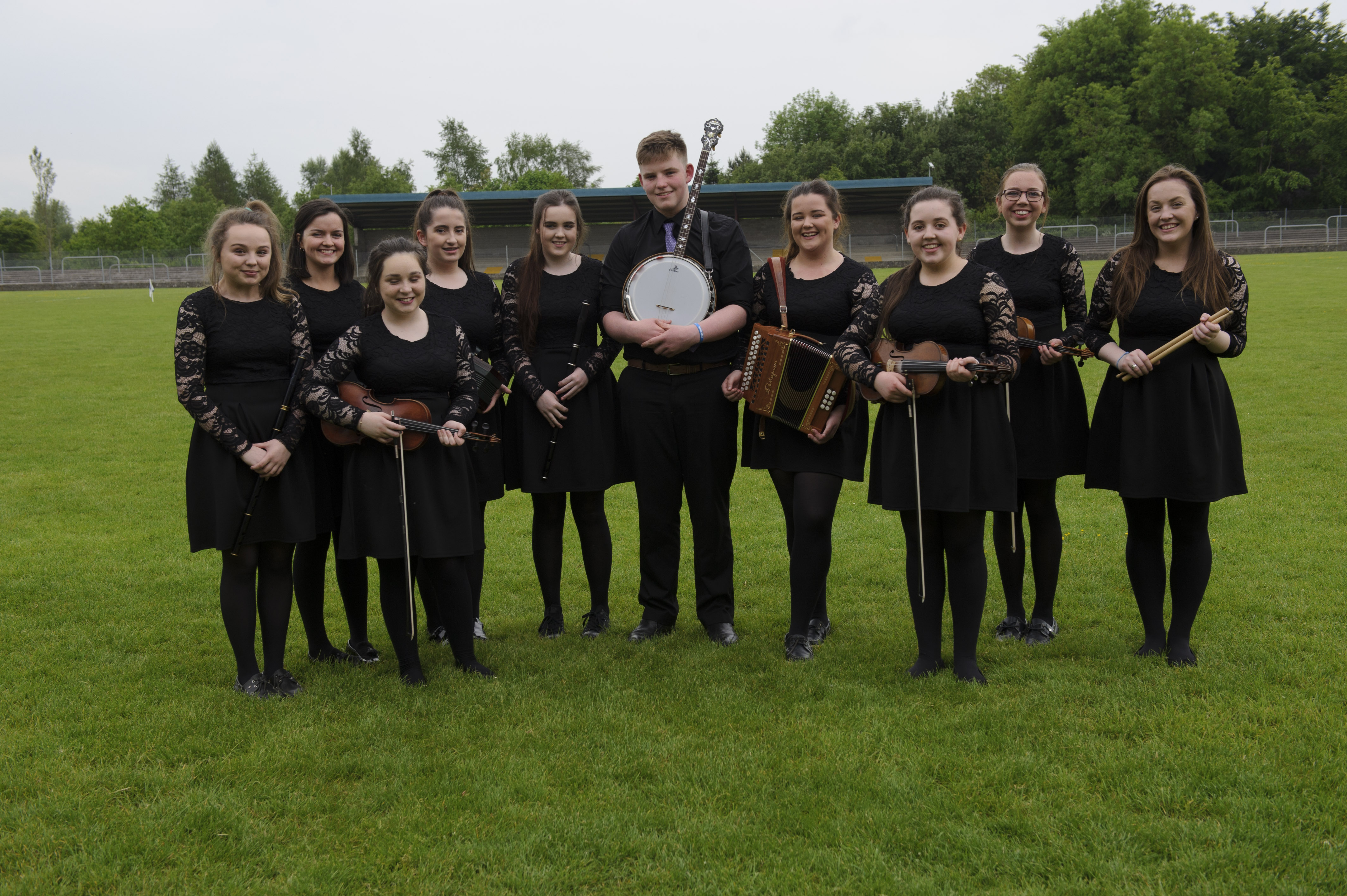 The Baile Mhuineacháin CCE U-15 Grúpa Ceoil, at the Co Monaghan Fleadh in Scotstown. ©Rory Geary/The Northern Standard