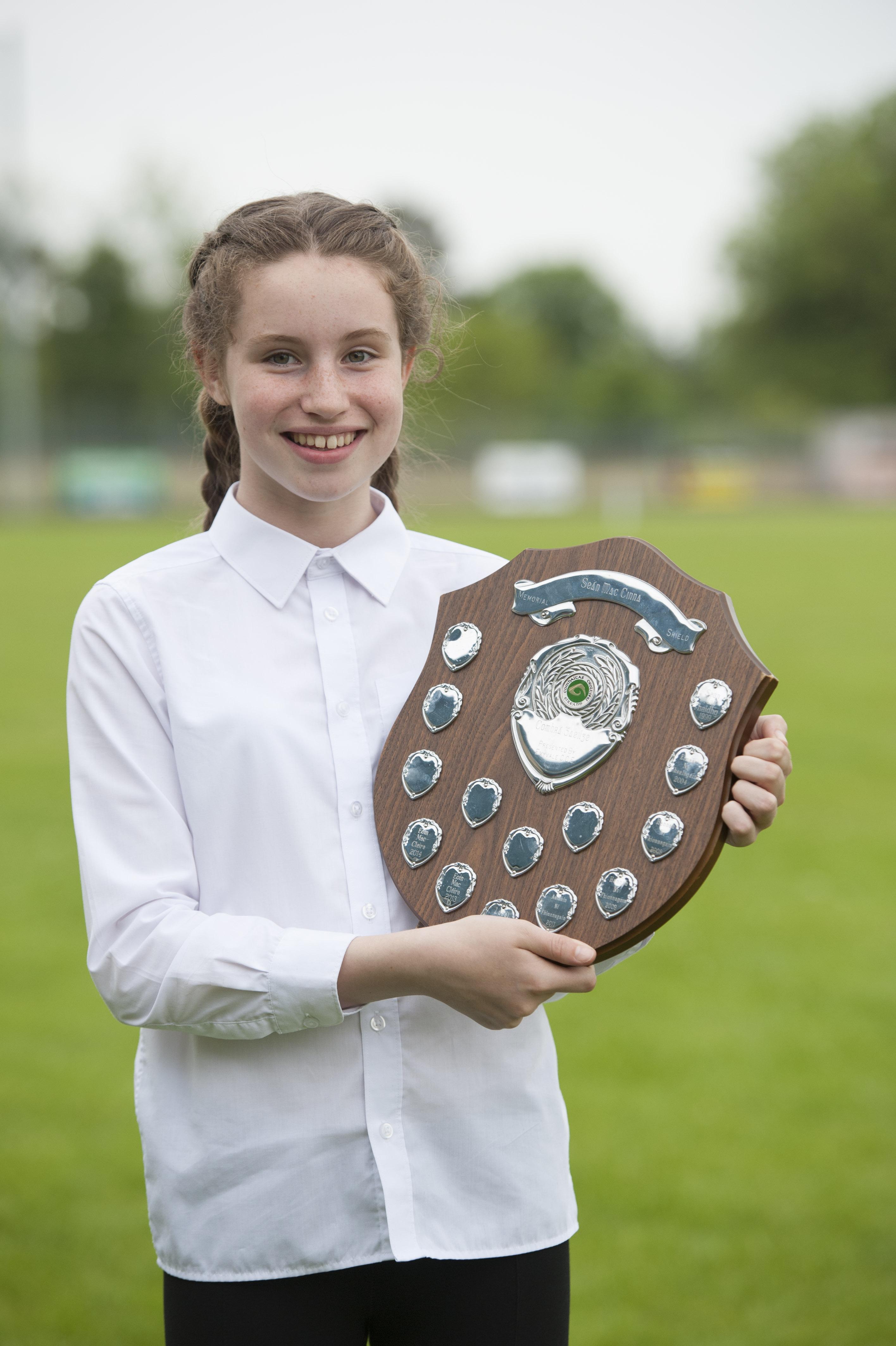Maire Cáit Ní Artáin, Carraig Mhachaire Rois CCE, who was winner of the Sean MacCinna Memorial Sheild for the U-13 Comhrá Gaelige. ©Rory Geary/The Northern Standard